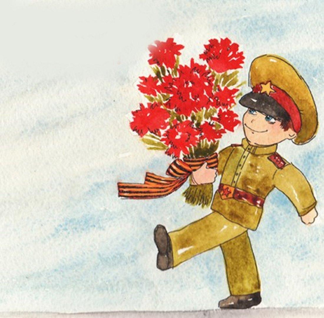 стоит нарисовать цветы на открытке к 9 мая рецептом цветочной