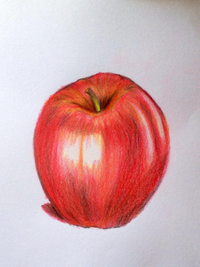 Яблоко картинки рисовать