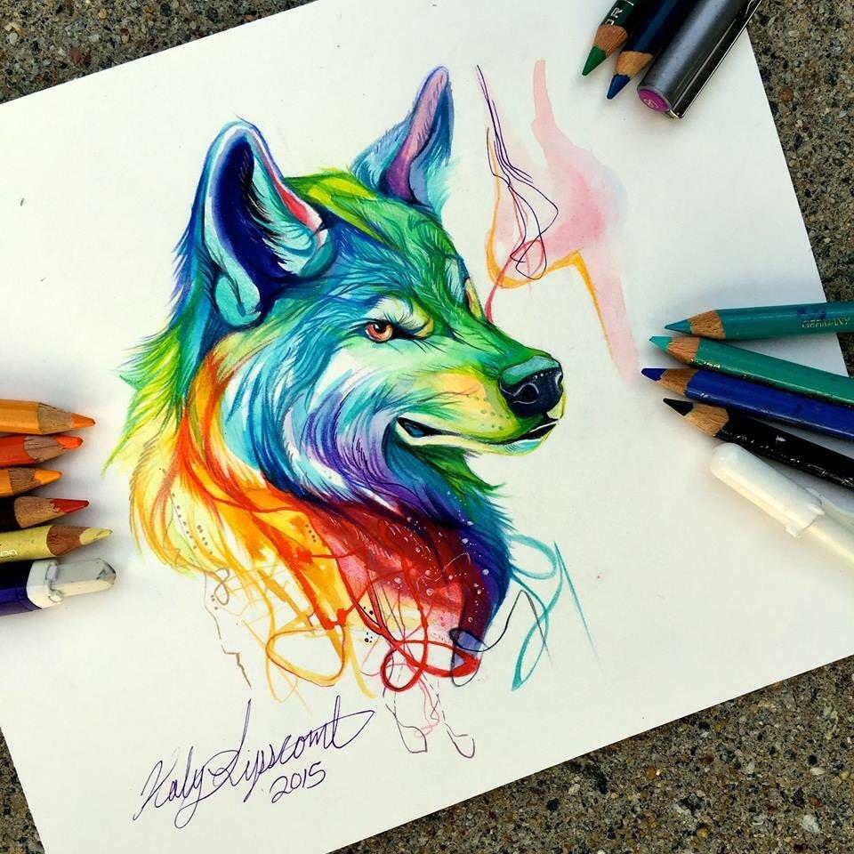 Цветные прикольные рисунки