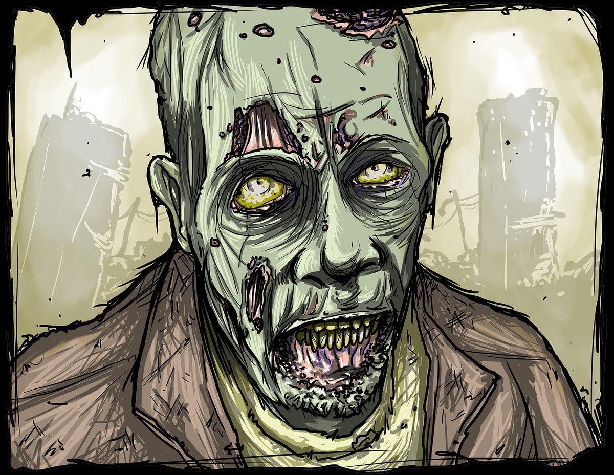 Прикольные картинки зомби