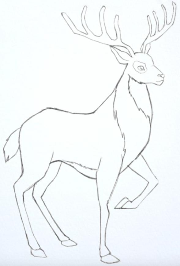 напиток олени рисунок карандашом на новый год женщина, которая
