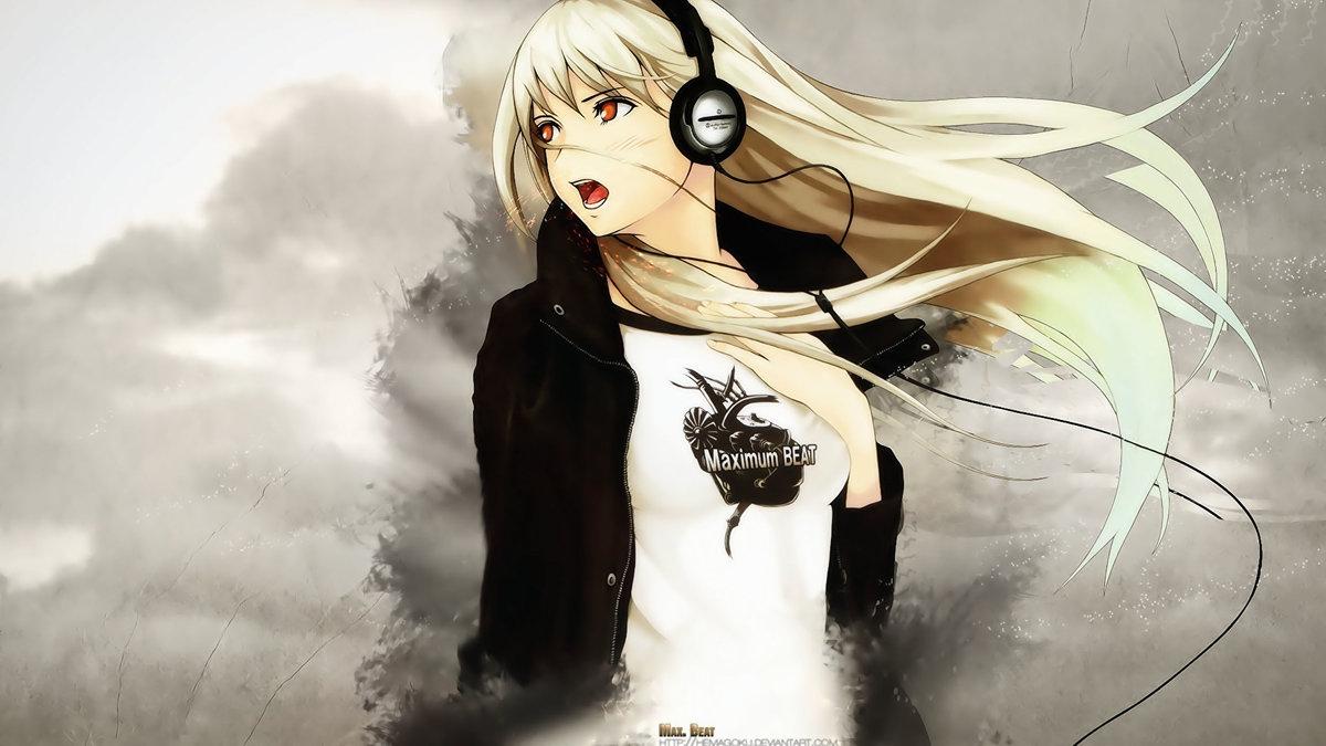 Anime Girl Headphone Wallpaper 1260274 Card From User Lyudochka