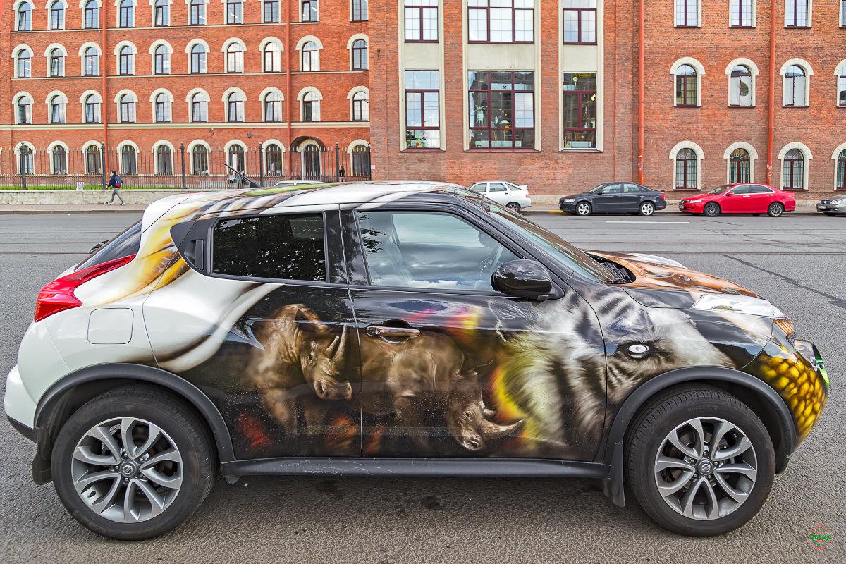 Крутые рисунки на автомобилях