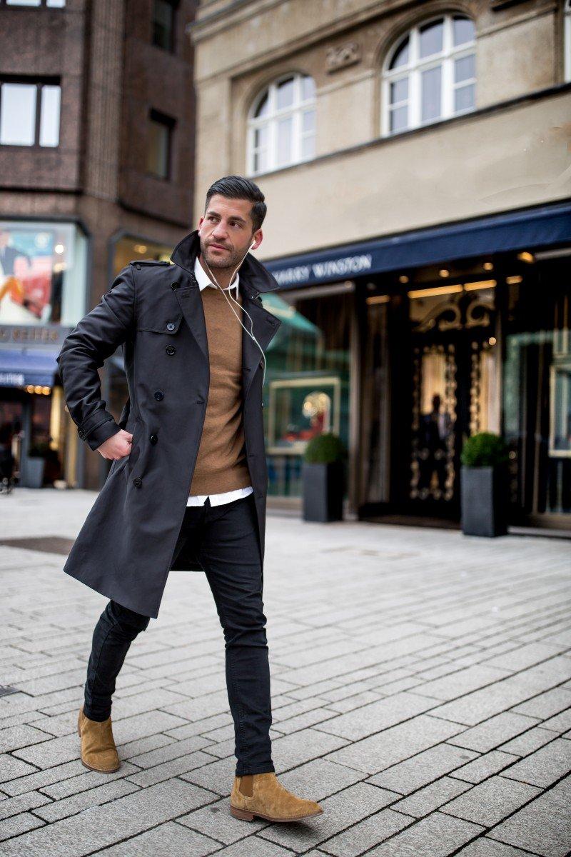 как одеваются стильные мужчины зимой фото того, что