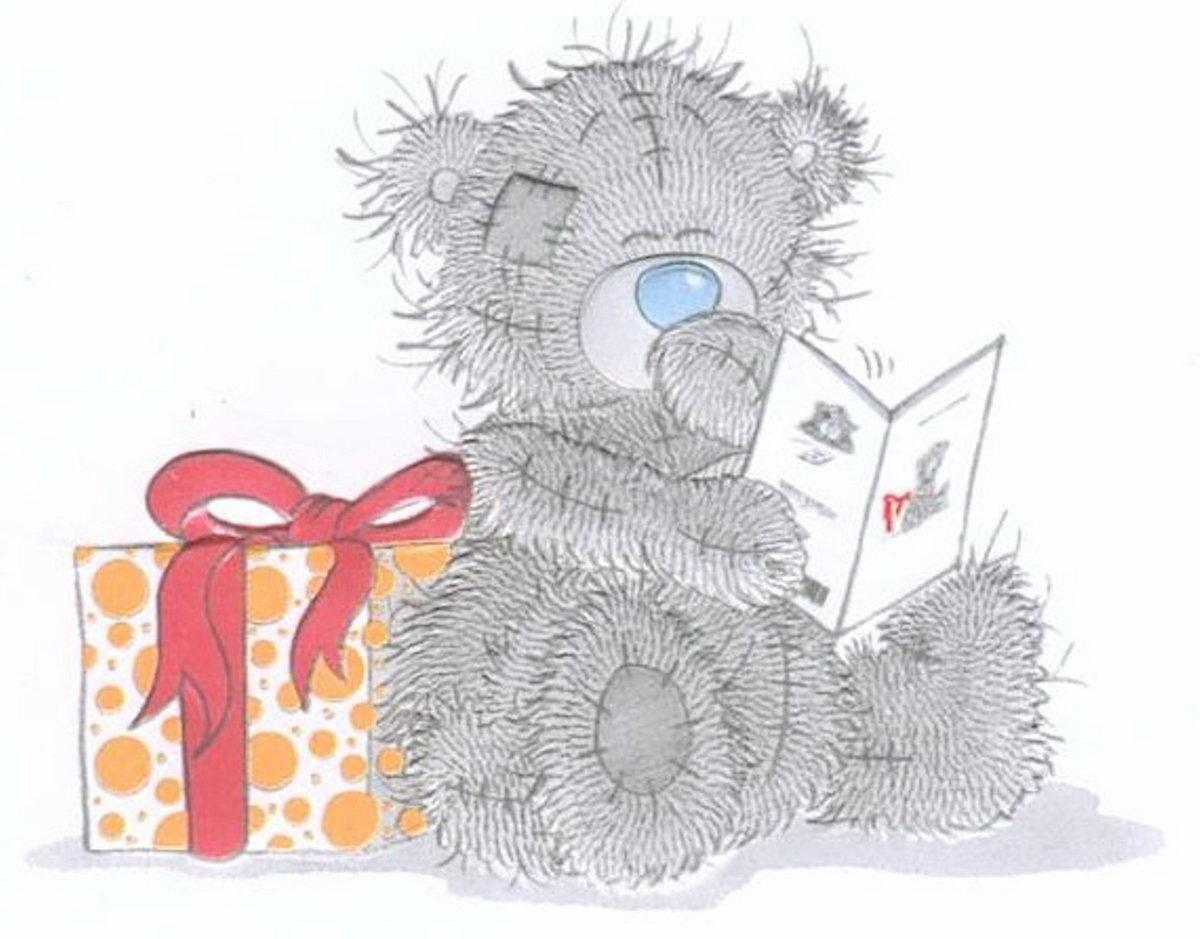 Мишка тедди с подарками картинка