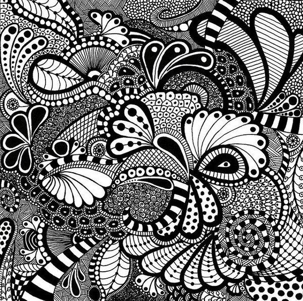 Графика картинки черно-белое
