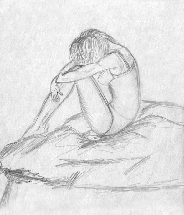 Картинки карандашом на тему грусть