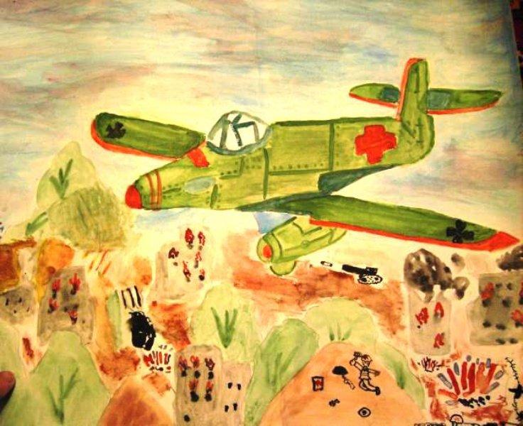 Военная тема детские рисунки