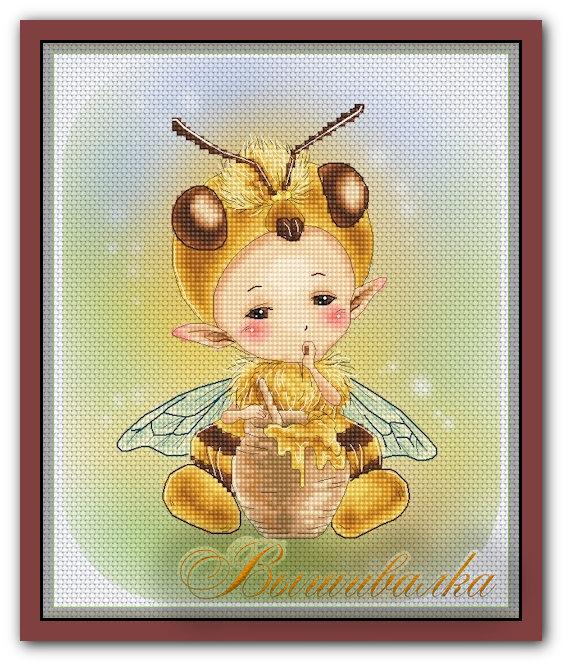 """Скачать схему вышивки """"Honey Bee Sprite"""" Lena Lawson"""