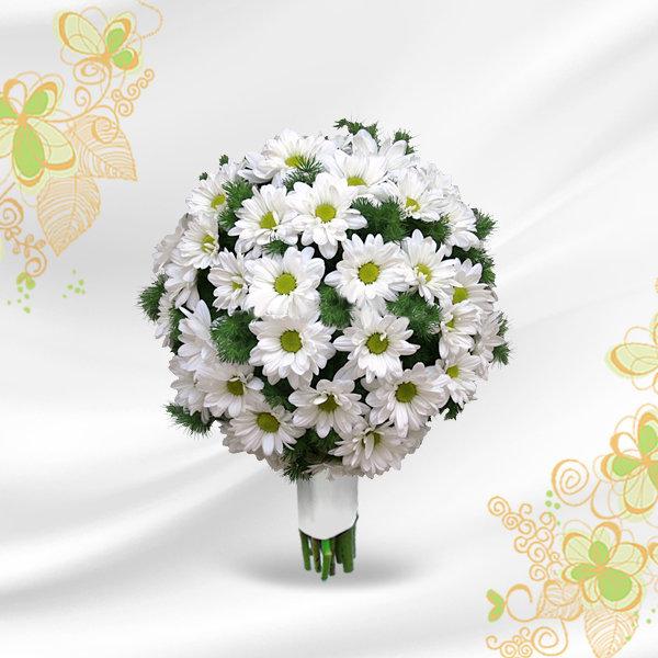 Кустовая хризантема свадебный букет, цветов