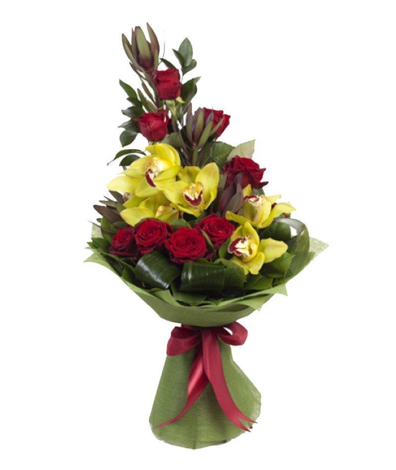 Букет фигурка из цветов для мужчины без