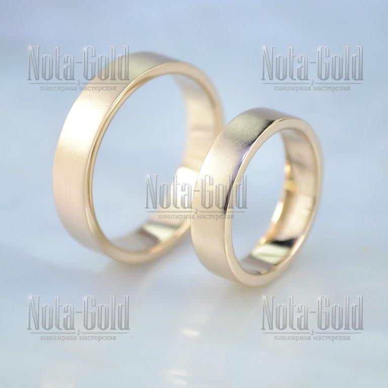 Плоские обручальные кольца классические с матовой поверхностью (Вес пары   12 гр.) от cd892e85bc3