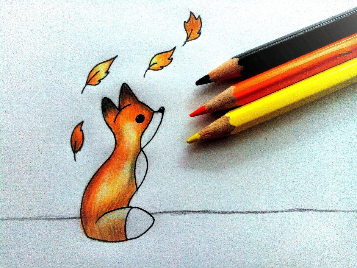 красивые и милые картинки для срисовывания цветными карандашами годами только