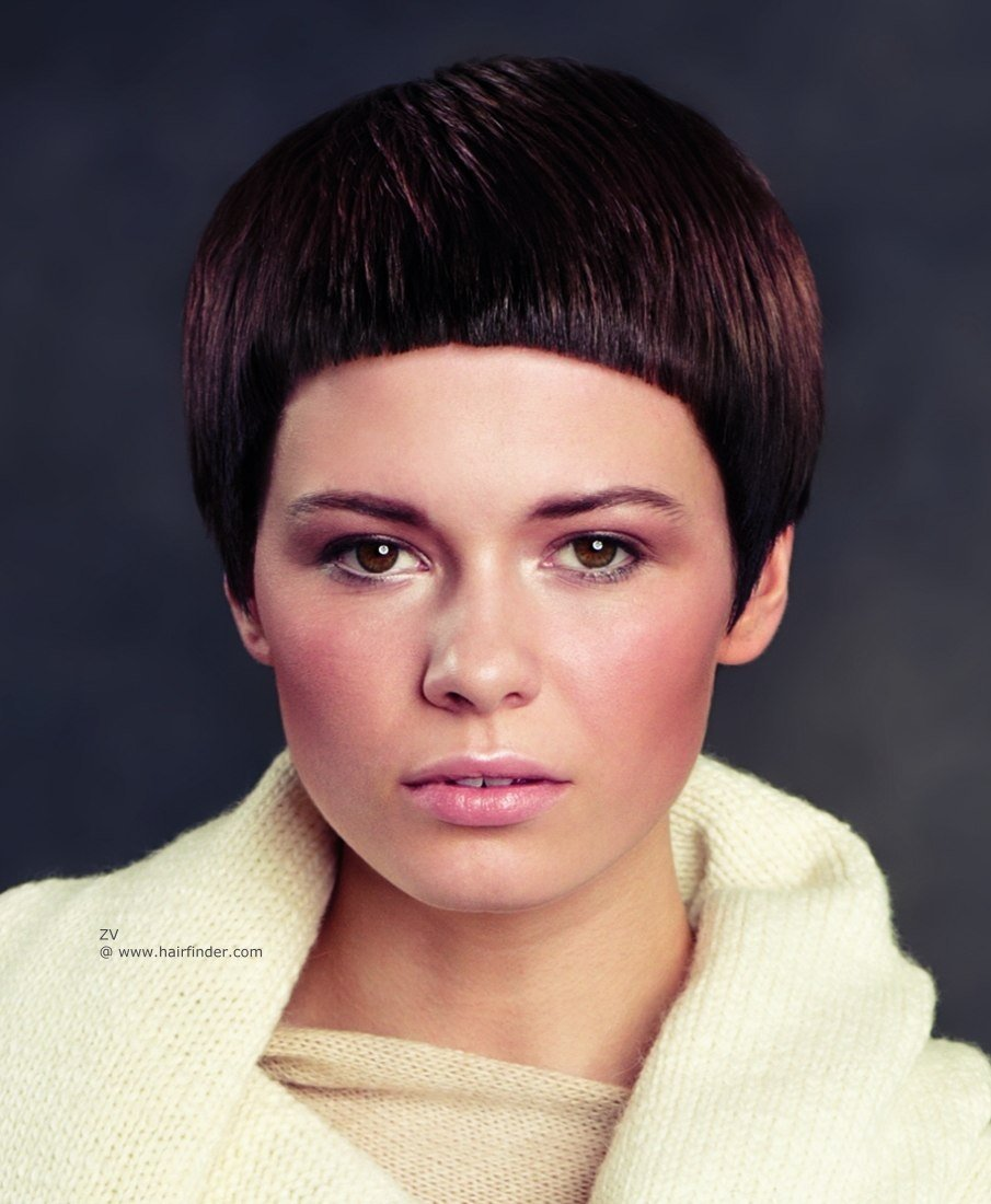 Hairstyles With Short Hair And Bangs Very Short Haircut With Card