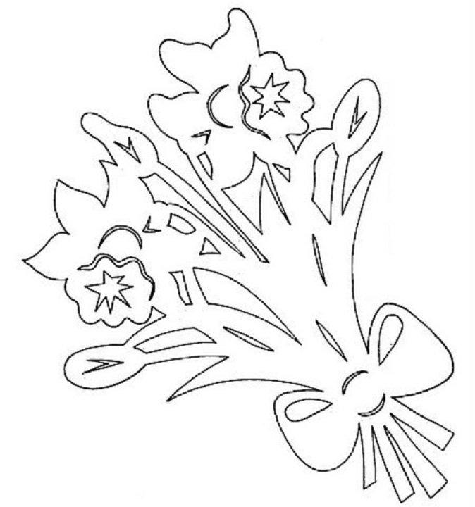 Вытынанки цветы для открытки, размеров