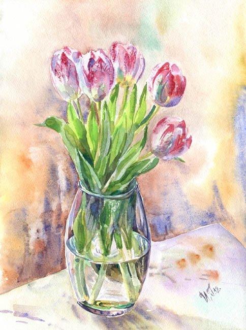 Весенний букет картинки нарисованные