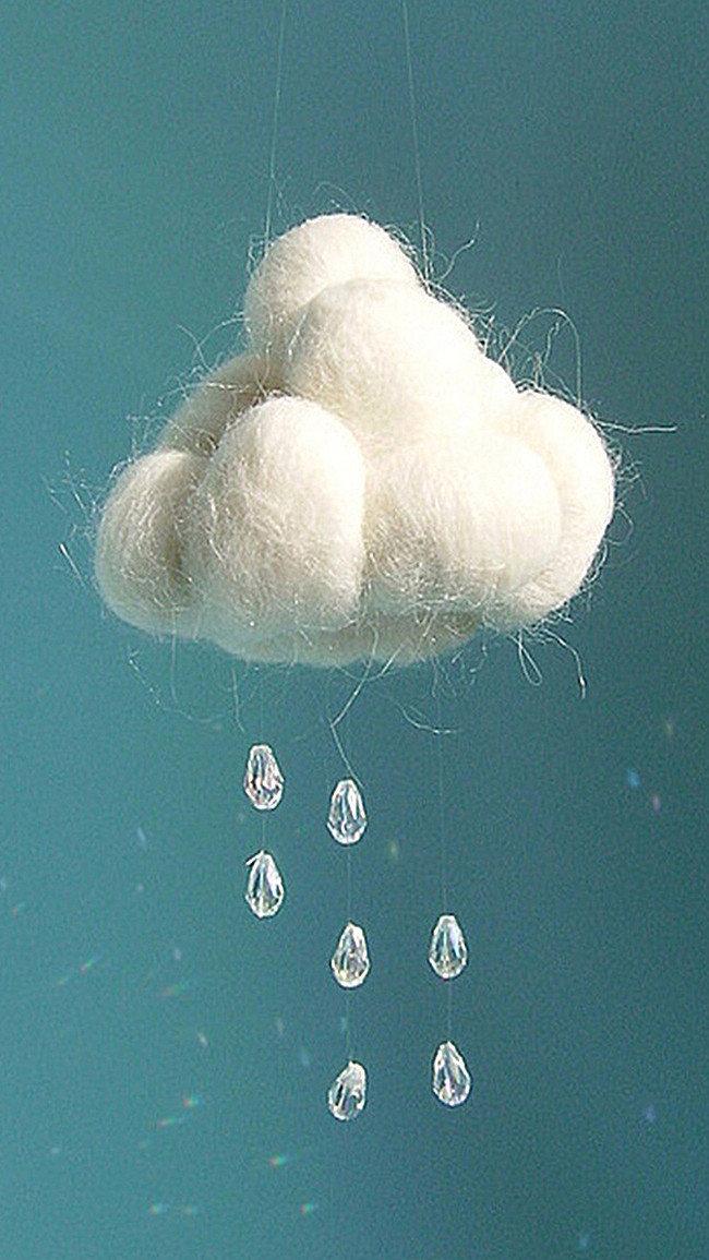 Облака из ваты для открытки, красивая февраля