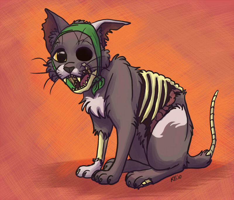 Картинка кот зомби