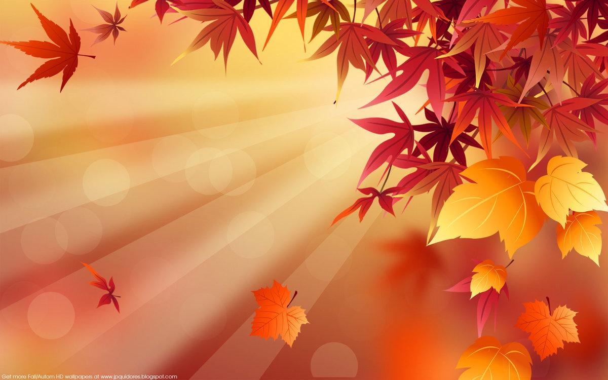 Нарисованные картинки, фоны для открытки осень в хорошем качестве