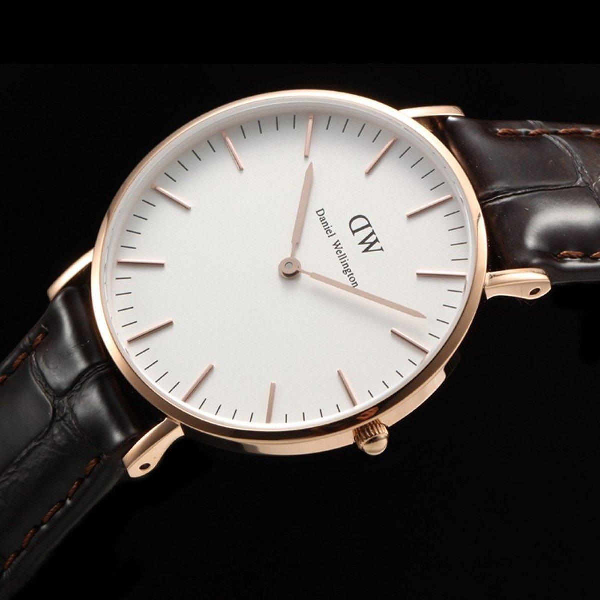 Распаковка, обзор и сравнение часов replica daniel wellington с aliexpress.