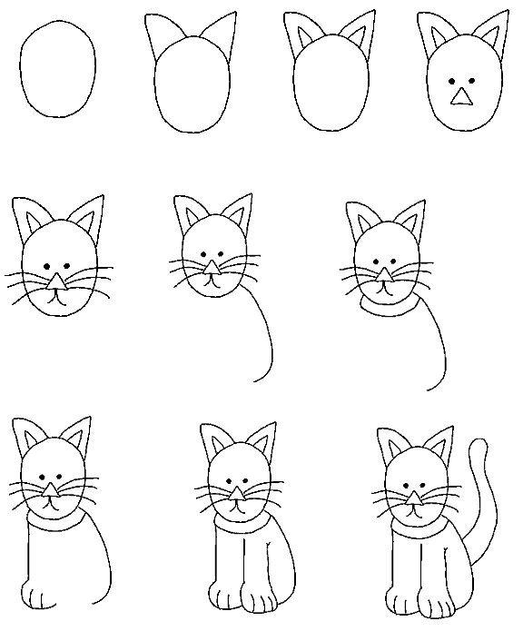 Рисование поэтапно смешные картинки, картинки машина