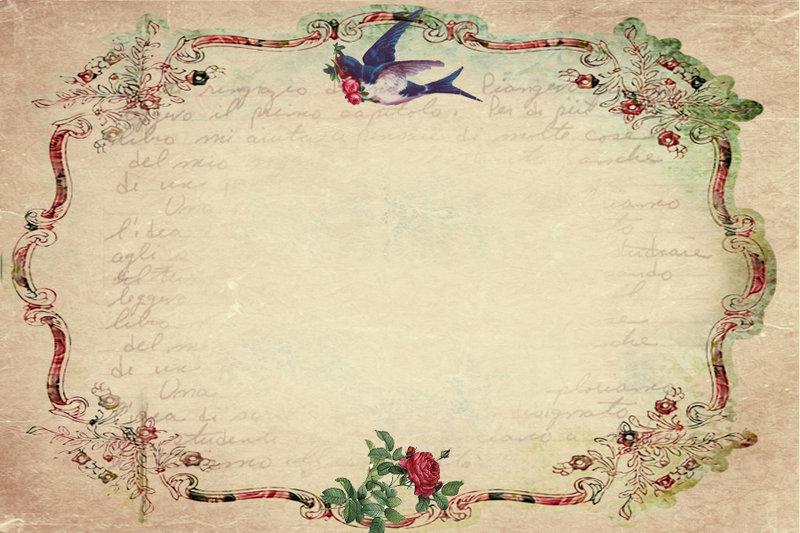 Розы день, старинная открытка фон
