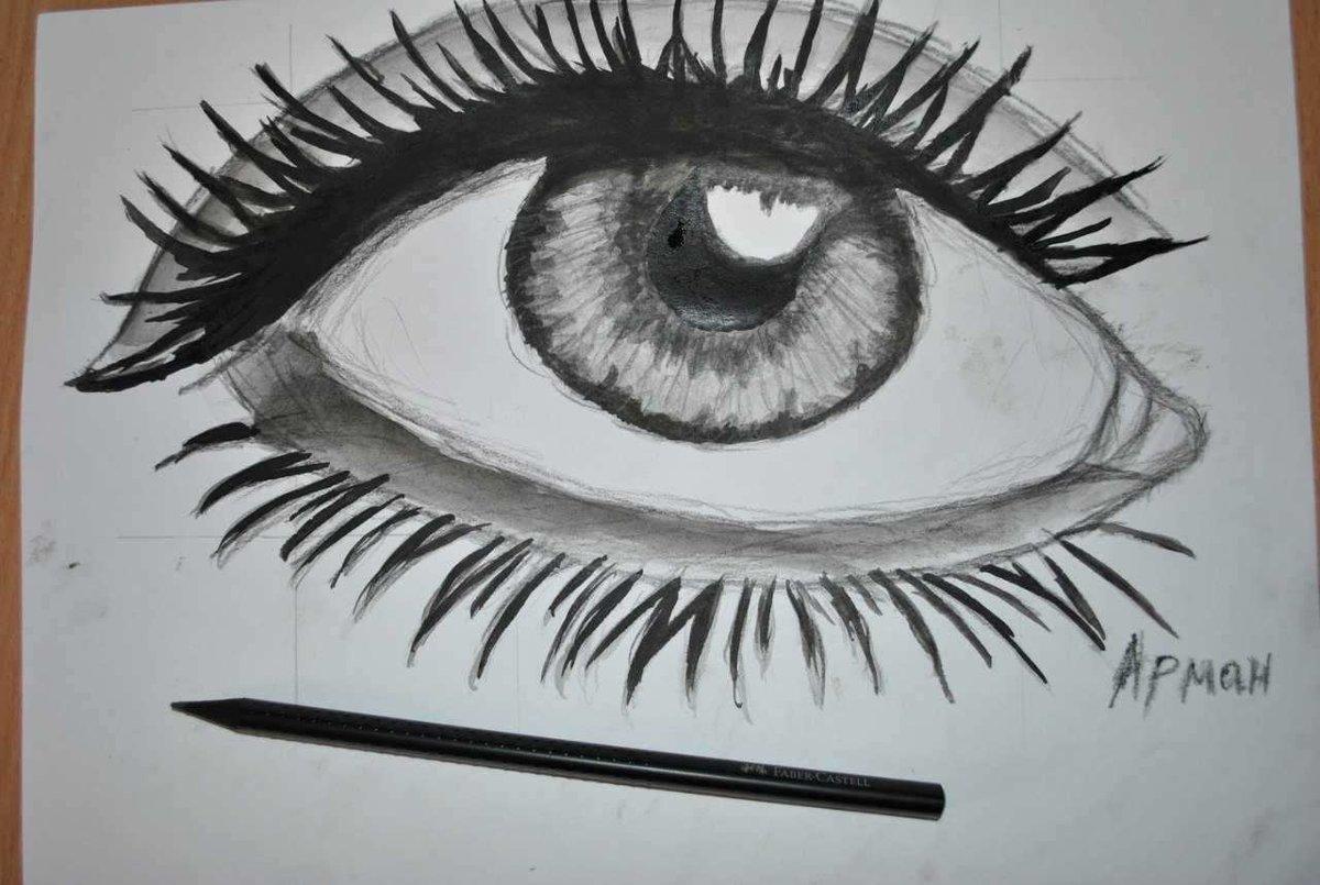 Конец света, глаза рисунки карандашом прикольные