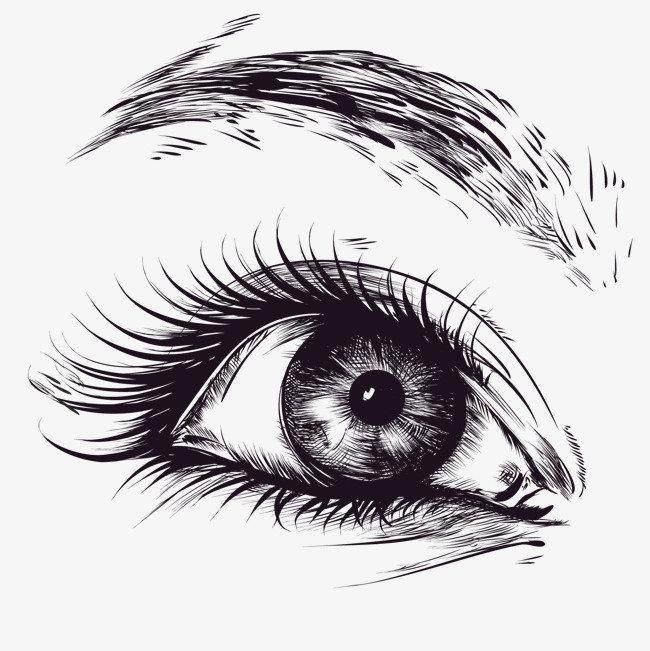 глаза черно белые рисунки состаренная