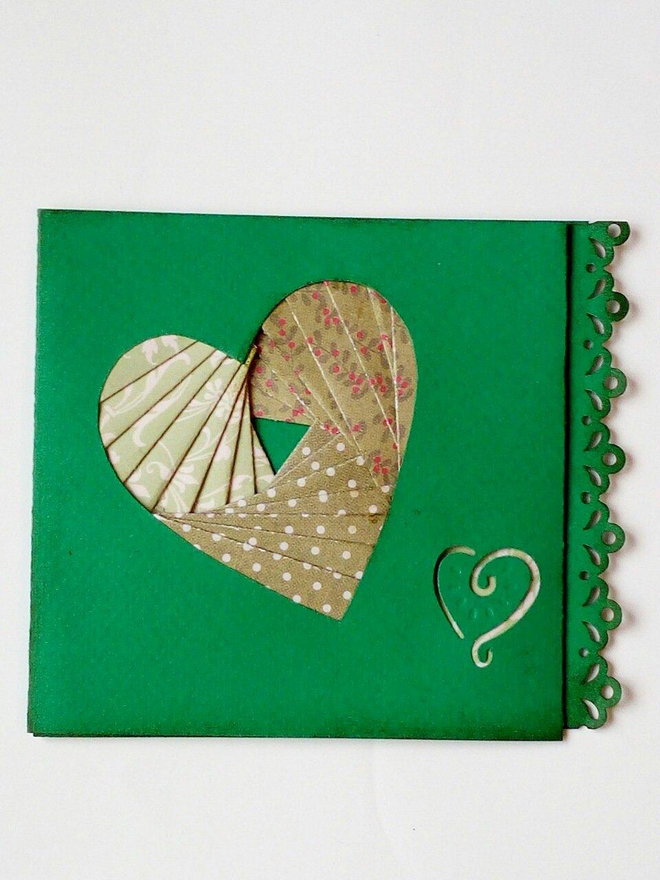 Картинки, открытка сердечко айрис фолдинг