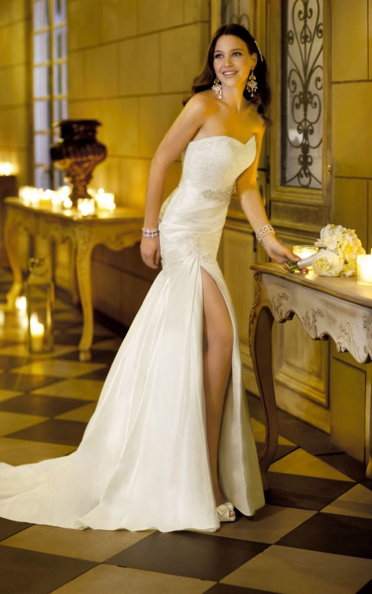 Сексуальное свадебное платье фото #15