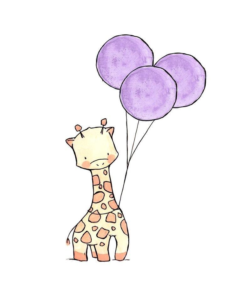 Днем рождения, прикольные милые и легкие рисунки