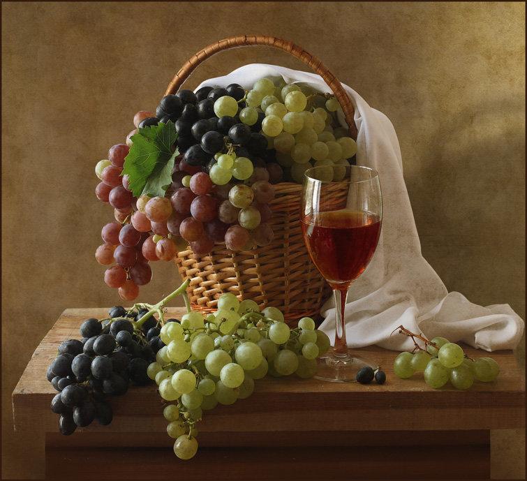 пом путевая фото натюрморт с виноградом стену