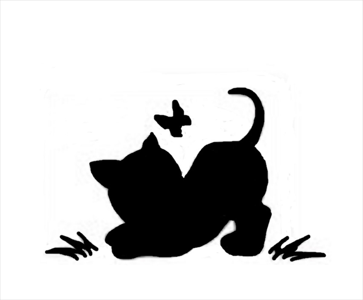 Трафарет кошка картинка