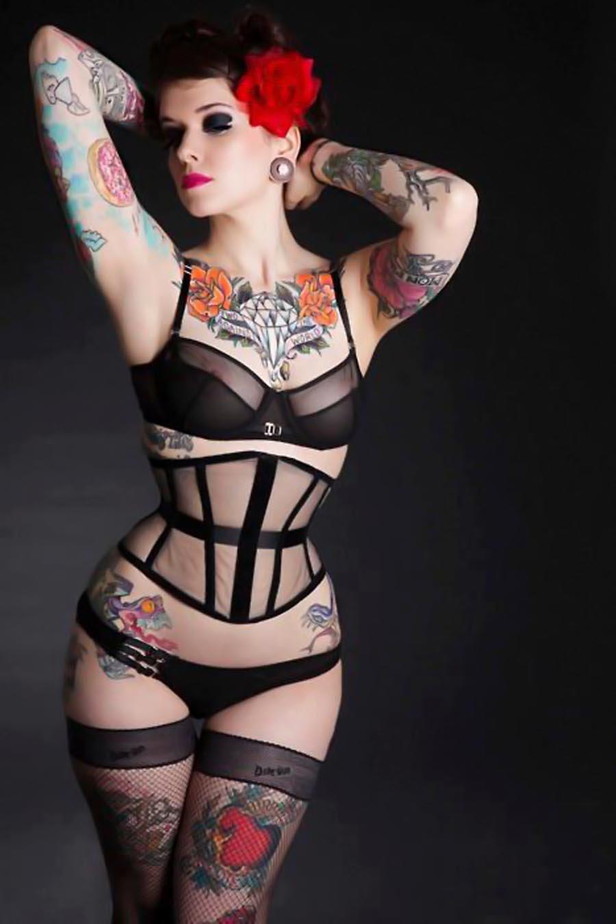 Female pin up sexy tattoo