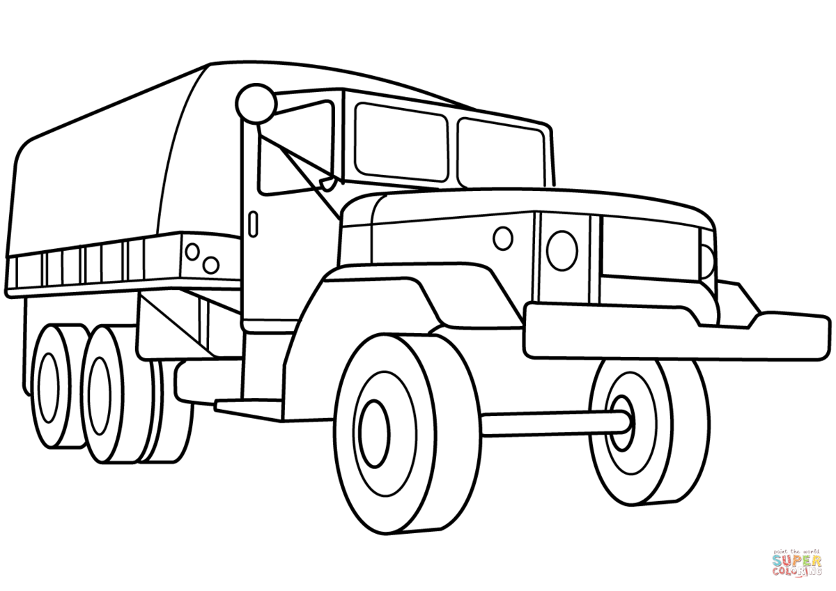 Раскраска военная машина распечатать