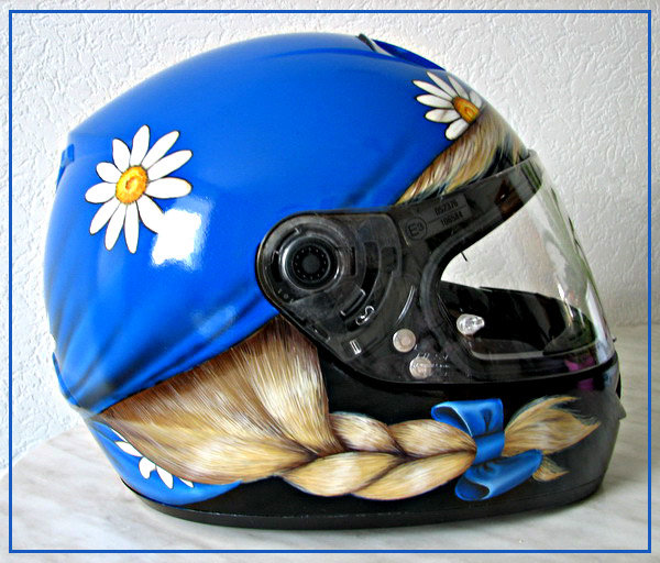 Прикольные рисунки на шлеме, открытки