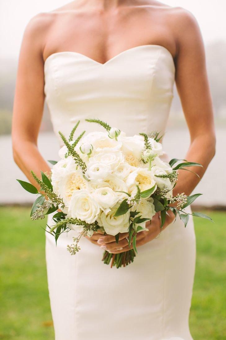 Свадебные букеты к платью айвори, донецк цветов