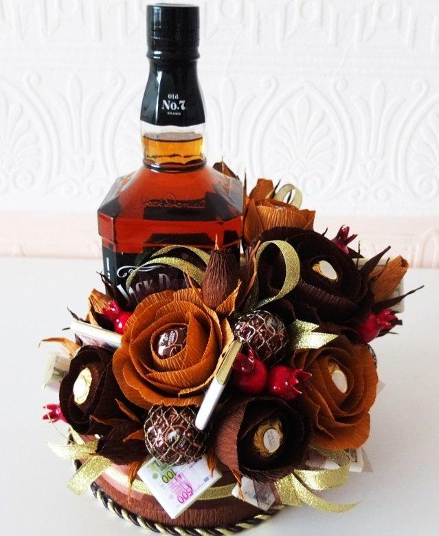 Цветы букет, мужской букет с днем рождения