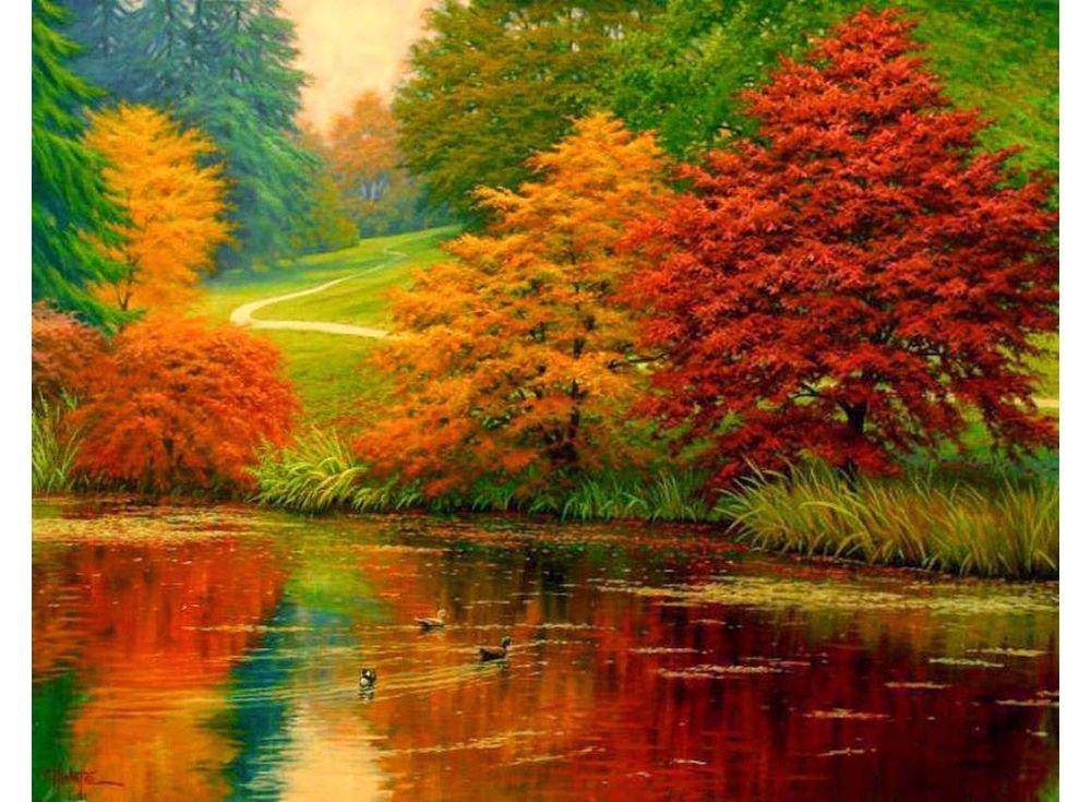 Красивые анимированные открытки про осень
