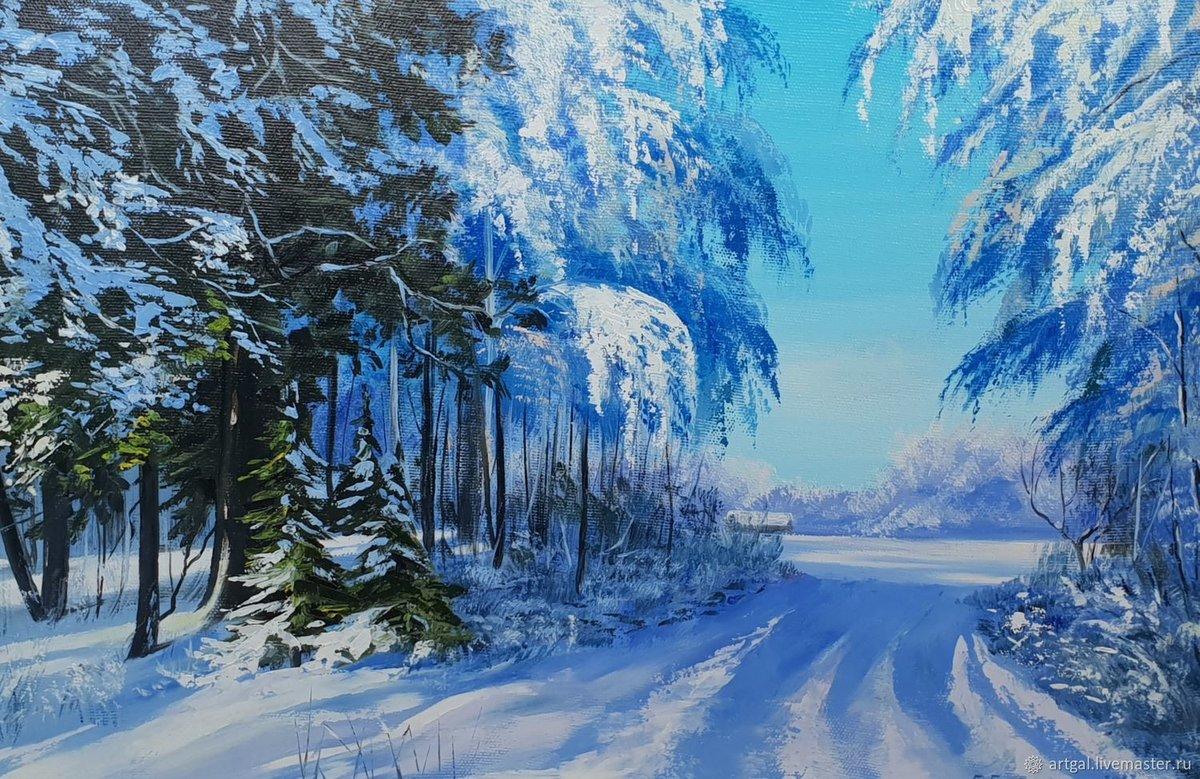 Зимнее утро картинки и рисунки свои карманы