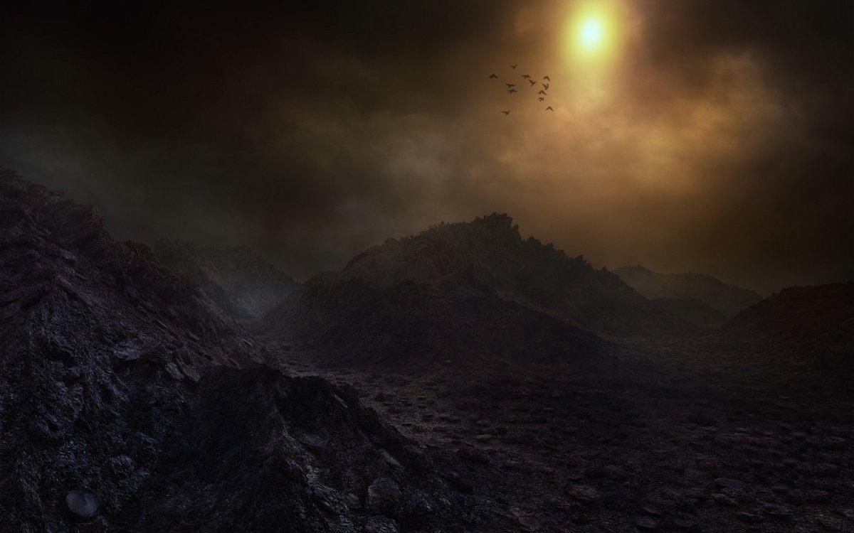 мрачные ночные горы картинки они имеют стильный