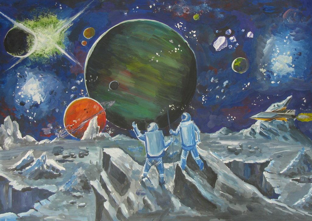 Картинки день космонавтики рисунки, картинки словами благодарности