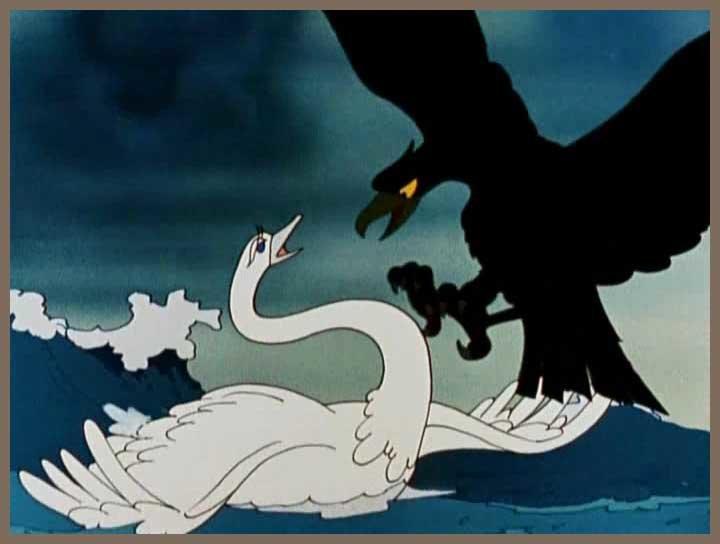 картинки о царе салтане как лебедь с коршуном