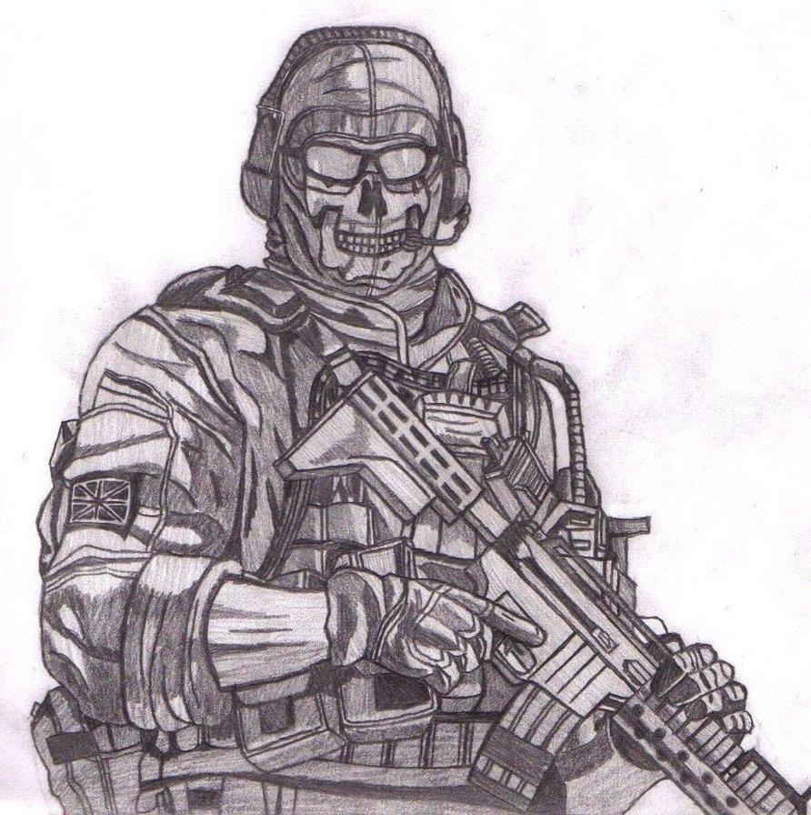 Крутые рисунки солдат, твари картинки