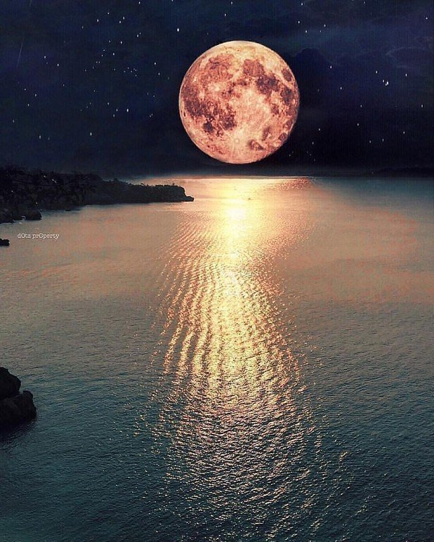 Картинка луна вечер