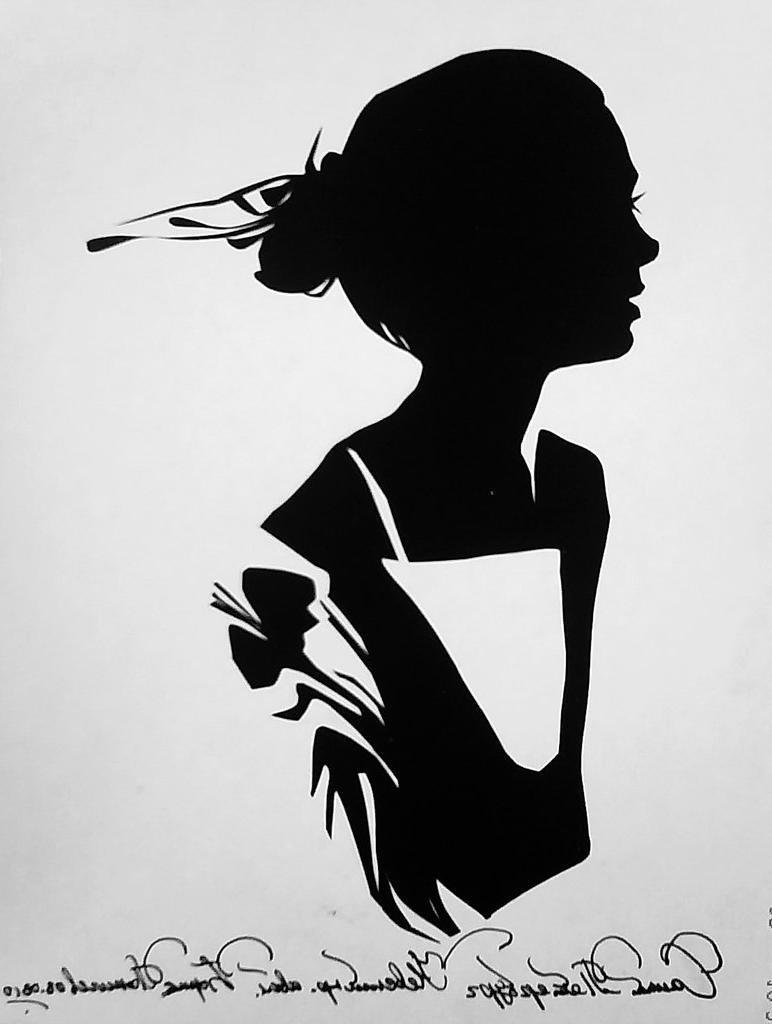 Картинки силуэт девушки нарисованный