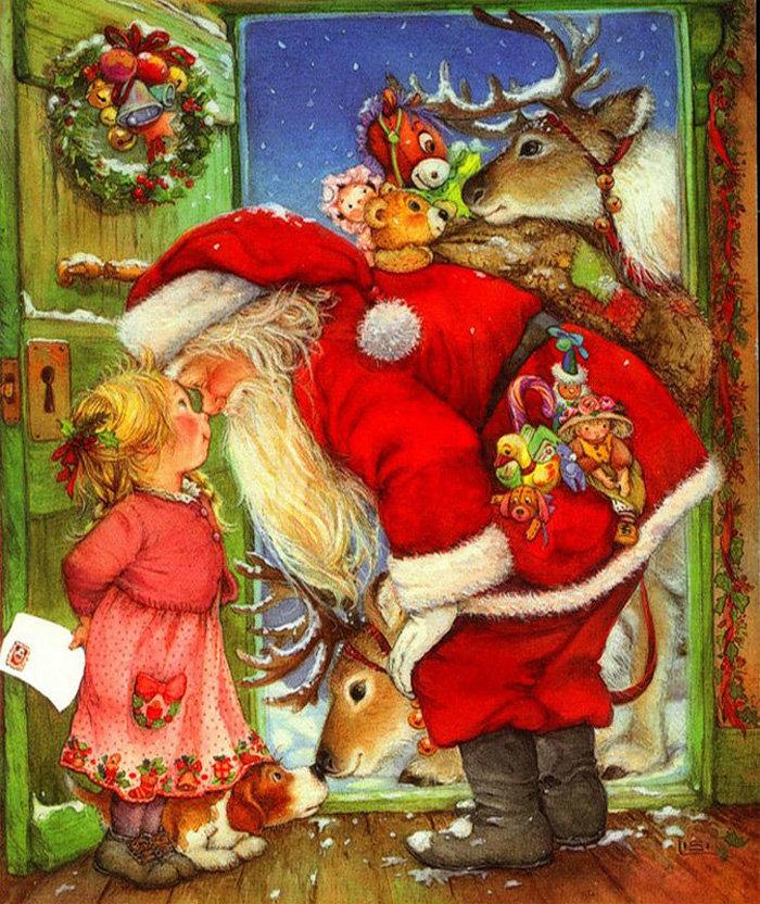 Картинки на рождество и новый год сказочные