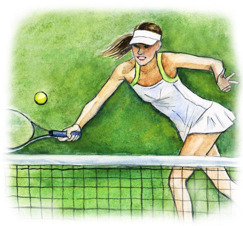 Сексу рисунки большого тенниса