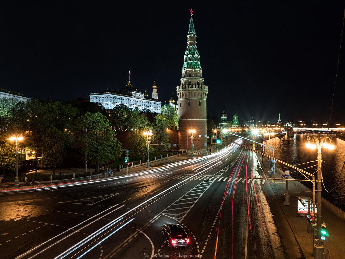 фото москва ночная дорога сама