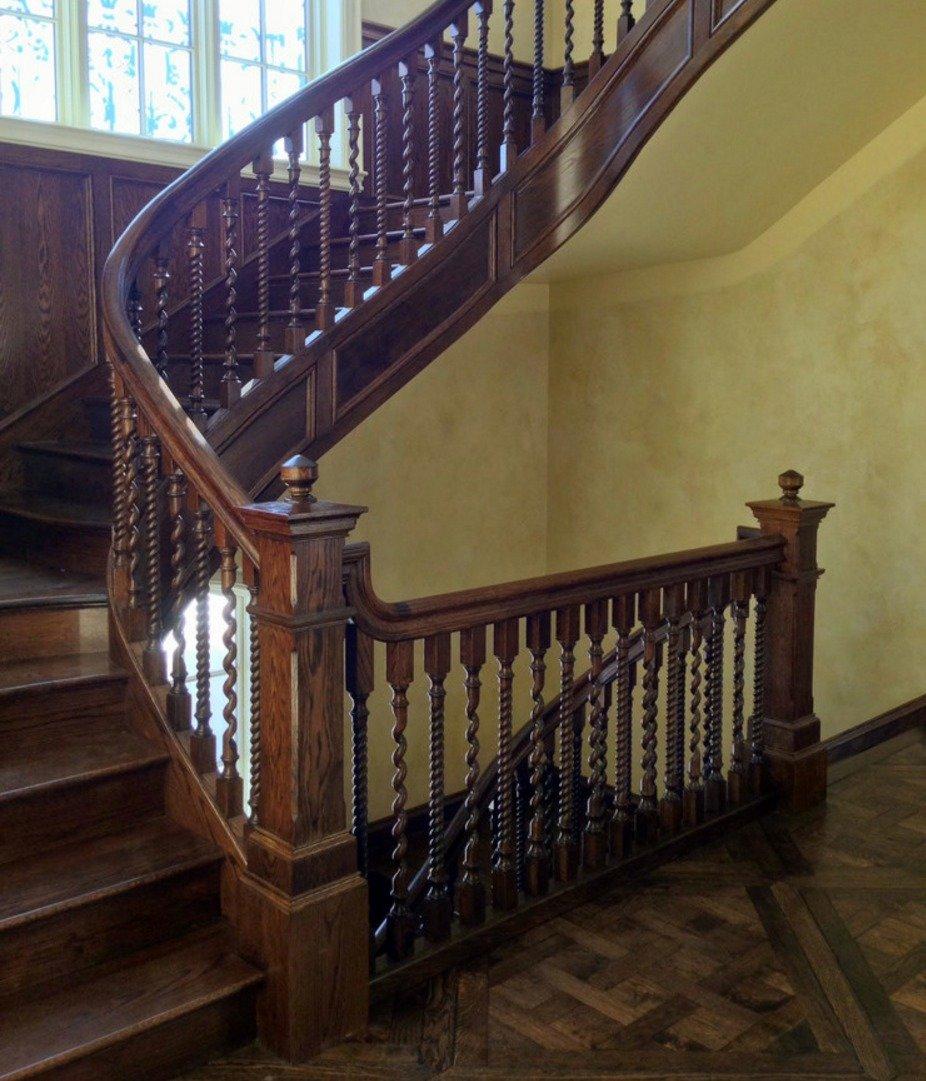 фото лестниц с поручнями этот